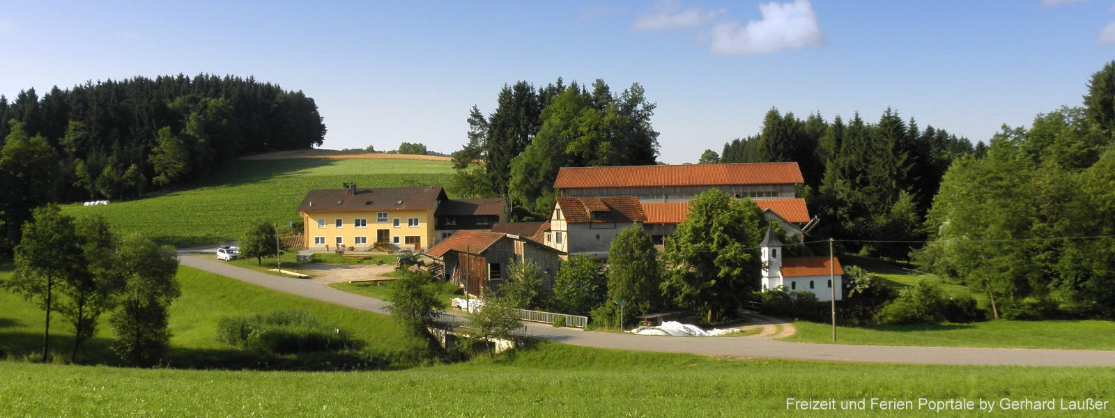 Bayersicher Wald Bauernhofurlaub in Bayern Bauernhof Ansicht